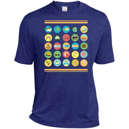 Traveller t-shirt with 40 icons to communicate gift sport tee