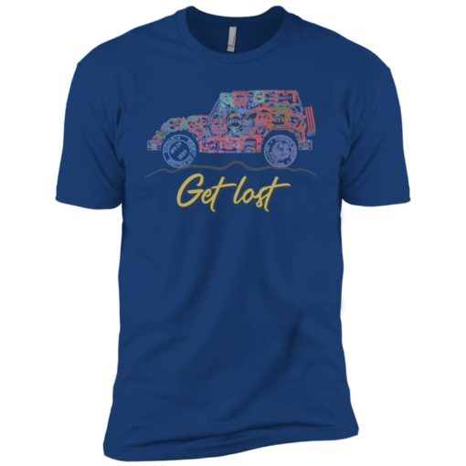 Get lost jeep sign premium t-shirt