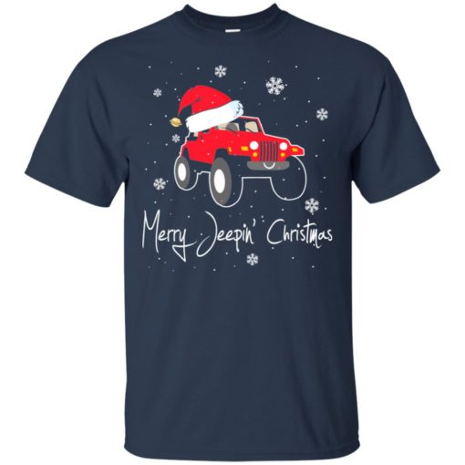 Merry jeepin christmas t-shirt
