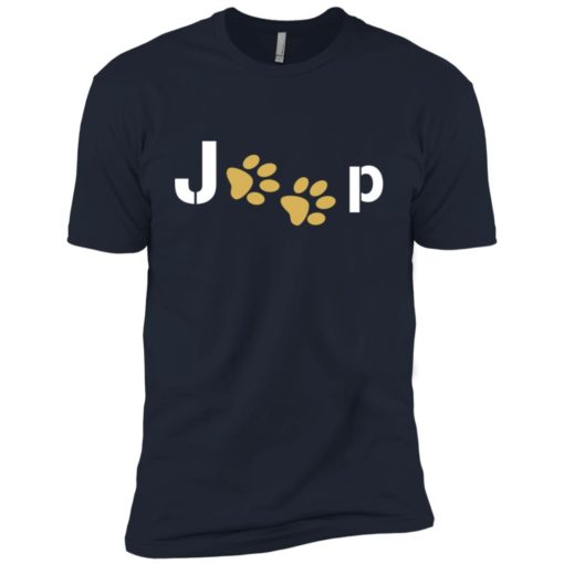 Jeep with dog paw premium t-shirt