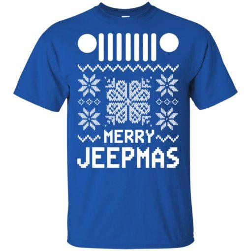 Merry jeepmas ugly christmas t-shirt