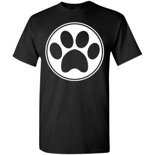 Dog paw print dog hand simple dog heart sign t-shirt