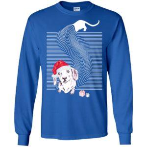 Dachshund in noel hat rocker style dog puppy lover happy long sleeve