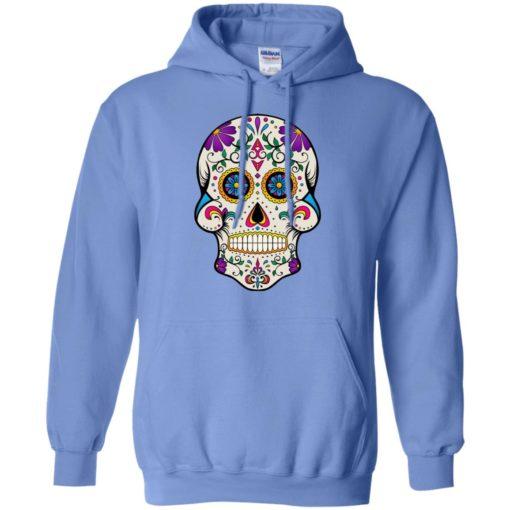 Mexican skull art 7 skeleton face day of the dead dia de los muertos hoodie