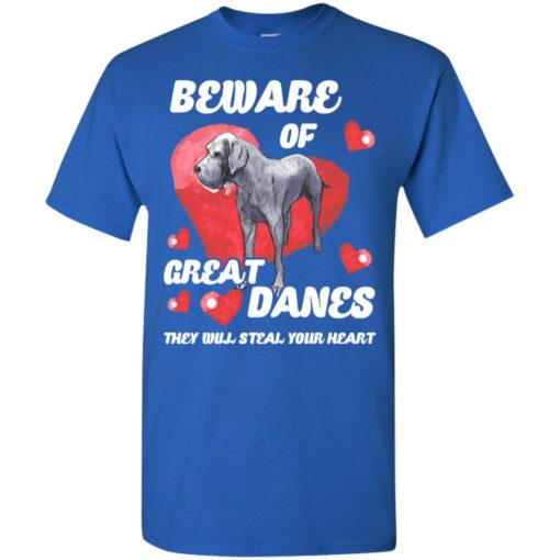 Dog lovers gift beware of great danes t-shirt
