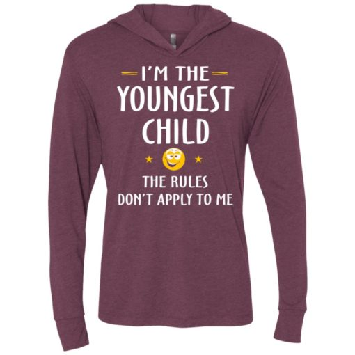 Youngest child shirt – funny gift for youngest child ls hooded t-shirt
