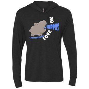 7 i just freaking love hippos ok unisex hoodie