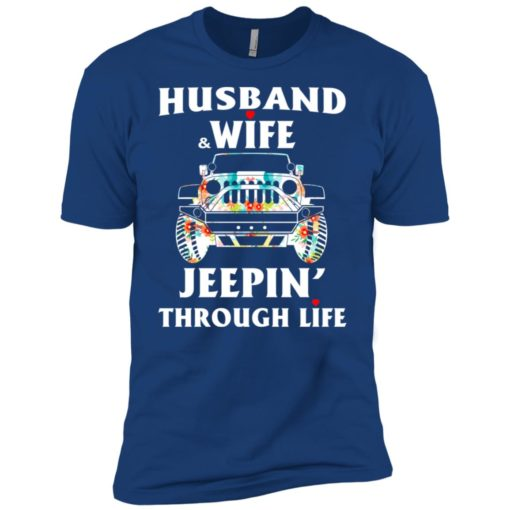 Husband and wife jeeping through life premium t-shirt