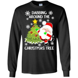 Dabbing around the christmas tree long sleeve