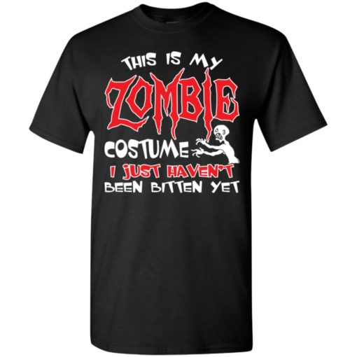 This is my zombie costume funny artwork halloween day t-shirt