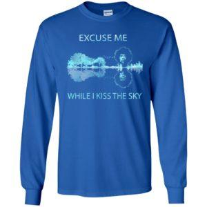 Jimi hendrix excuse me while i kiss the sky guitar lake shadow long sleeve