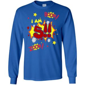 5th birthday gift shirt for boys party action long sleeve