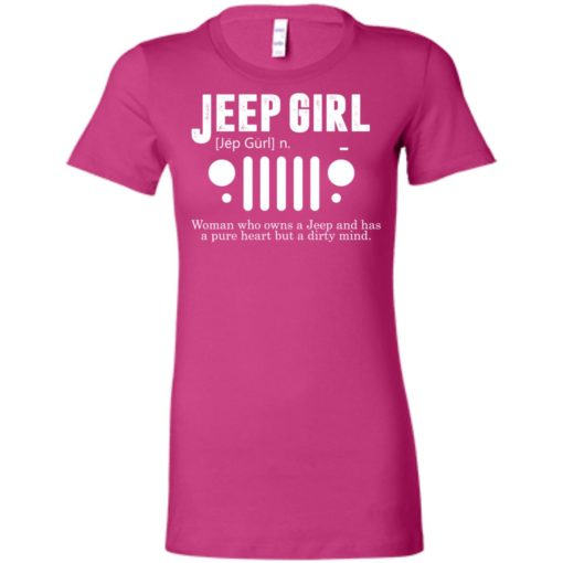 Vintage jeep pure heart but dirty mind jeep girl jeep wife women tee
