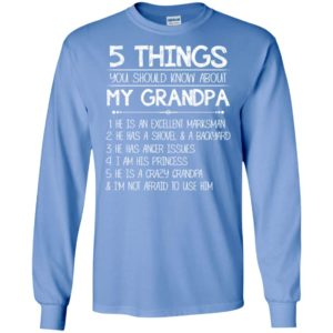Christmas grandpa shirts 5 things you should know about my grandpa long sleeve