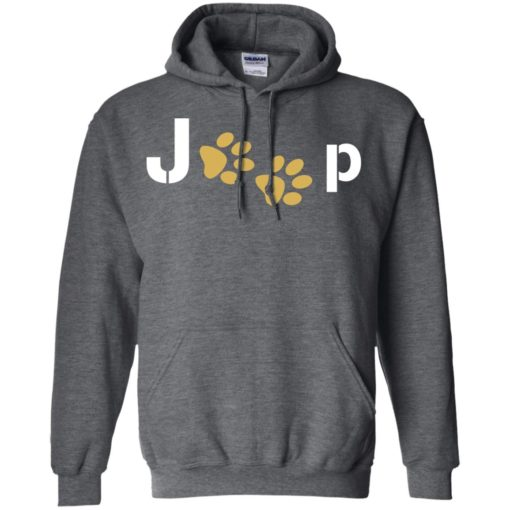 Jeep with dog paw hoodie