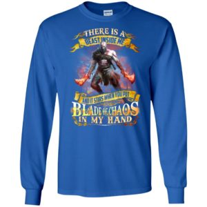 God of war kratos there is a beast inside me long sleeve