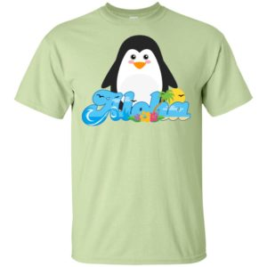 Aloha penguin animal gift cute kids hawaiian t-shirt