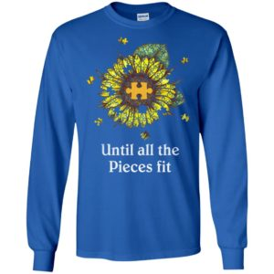Sunflower puzzle until all the pieces fit long sleeve