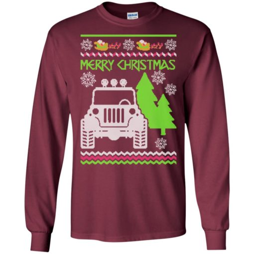 Ugly jeep sweater christmas gift for jeep lover owner addicted long sleeve