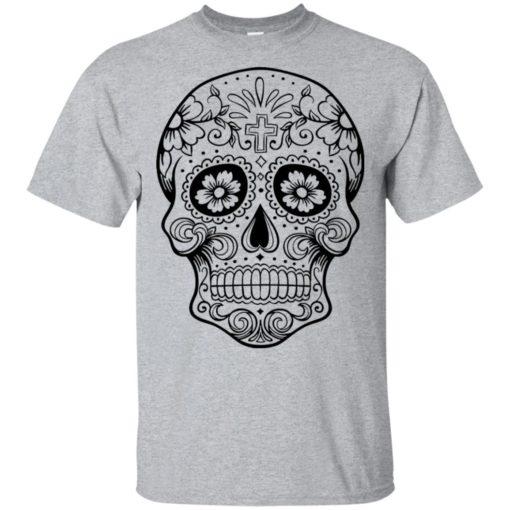 Mexican skull art 1 skeleton face day of the dead dia de los muertos t-shirt