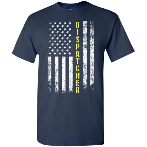 Proud dispatcher miracle job title american flag t-shirt