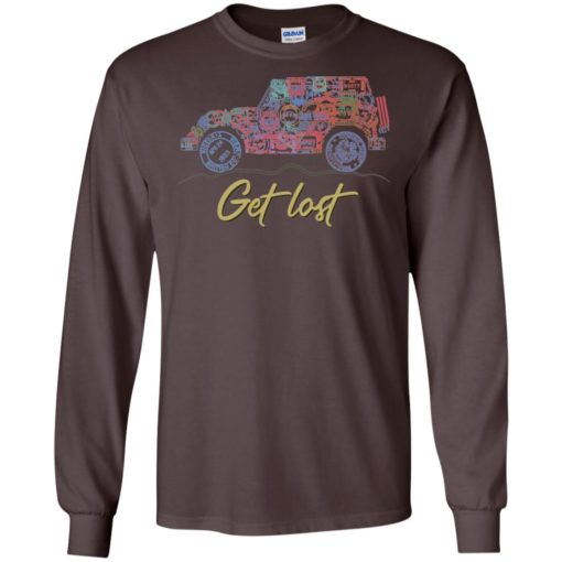 Get lost jeep sign long sleeve