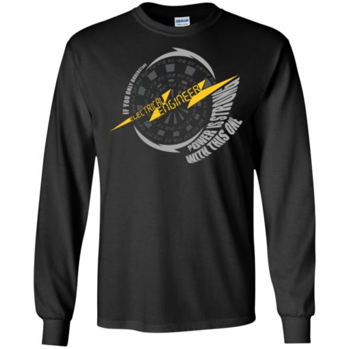 Electrical engineer definition if you only understand power is strong with this one long sleeve