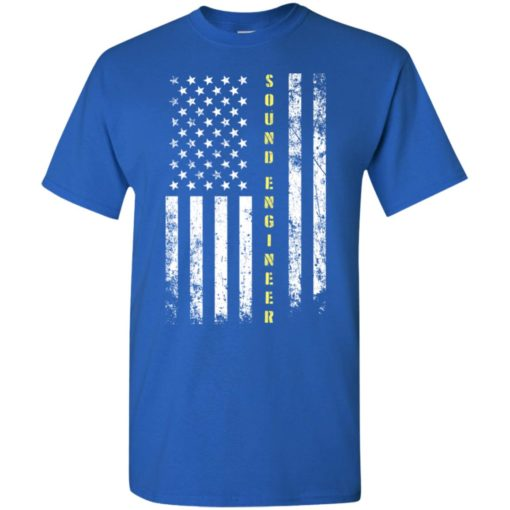 Proud sound engineer miracle job title american flag t-shirt
