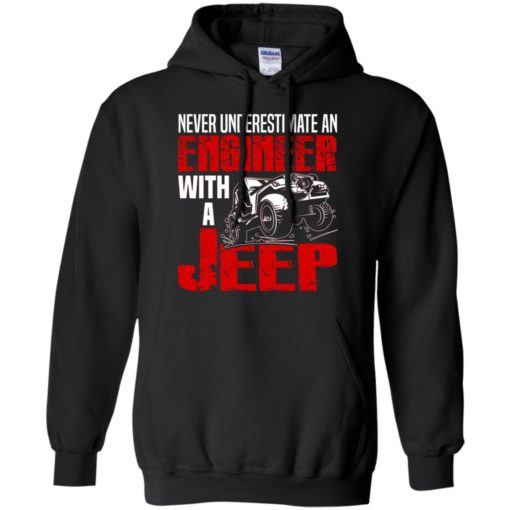 Never underestimate engineer with jeep hoodie