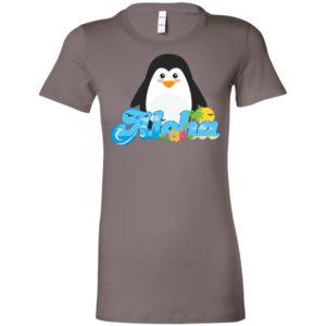 Aloha penguin animal gift cute kids hawaiian women tee