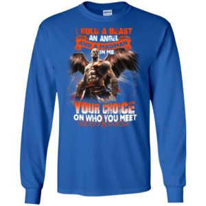 God of war kratos i hold a beast an angle and a madman in me long sleeve
