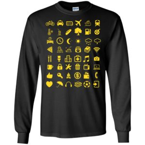 48 cool traveller icons travel icon-speaks for who love travelling long sleeve