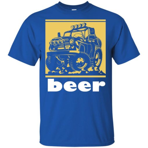 Funny beer alcohol jeep 4×4 drinking lover t-shirt