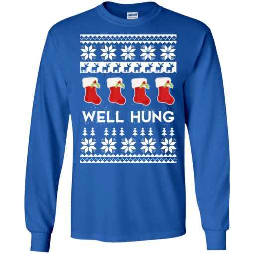 Hanging christmas socks well hung long sleeve