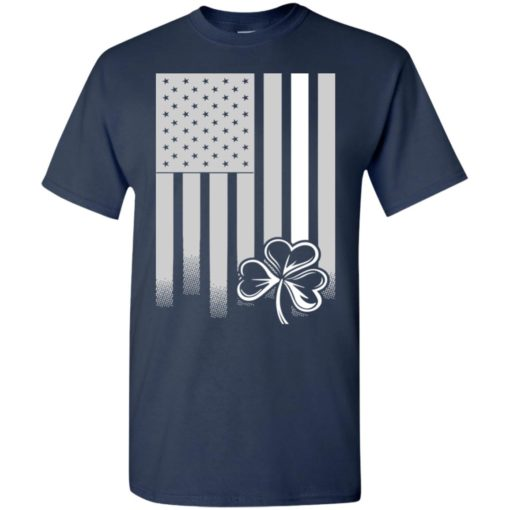 Irish american flag and clover for st. patrick's day t-shirt
