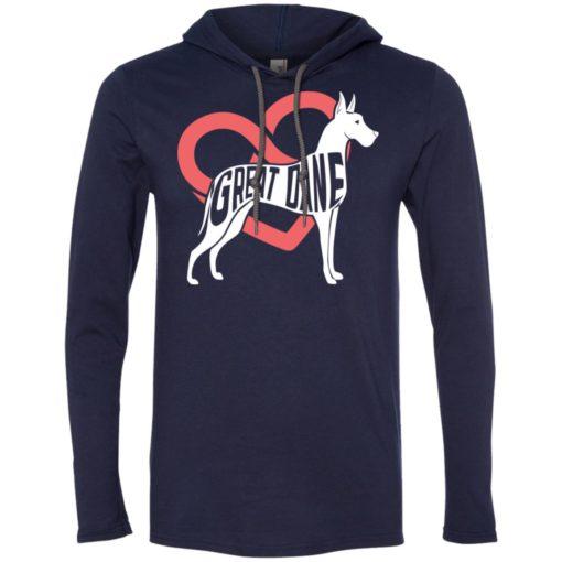 Dog lovers gift great dane infinite love long sleeve hoodie