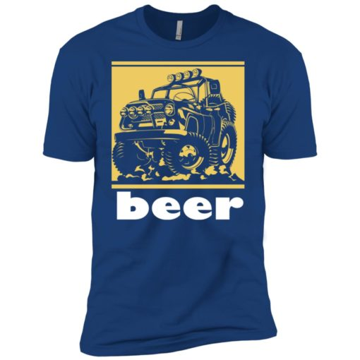 Funny beer alcohol jeep 4×4 drinking lover premium t-shirt