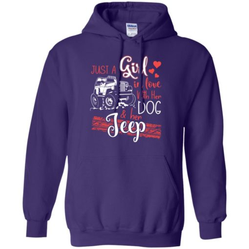 Jeep just a girl in love with jeep and her dog hoodie