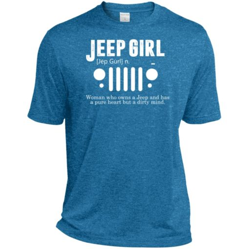 Vintage jeep pure heart but dirty mind jeep girl jeep wife sport t-shirt