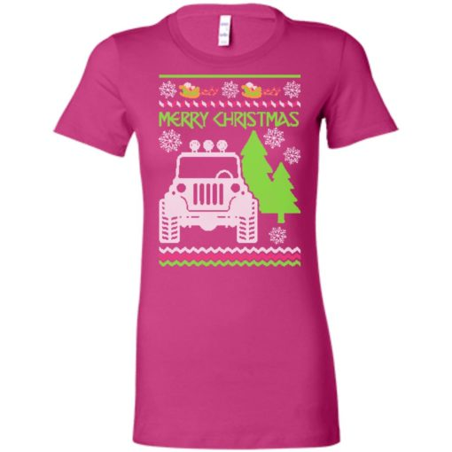 Ugly jeep sweater christmas gift for jeep lover owner addicted women tee