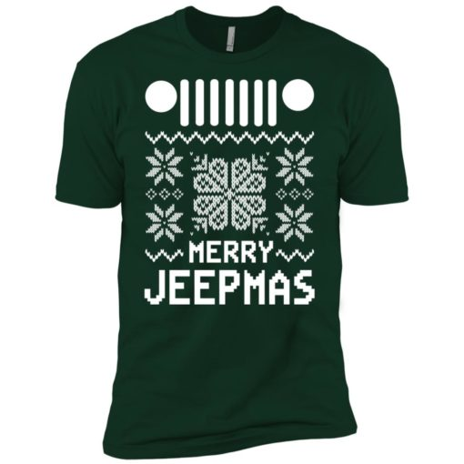 Merry jeepmas ugly christmas premium t-shirt