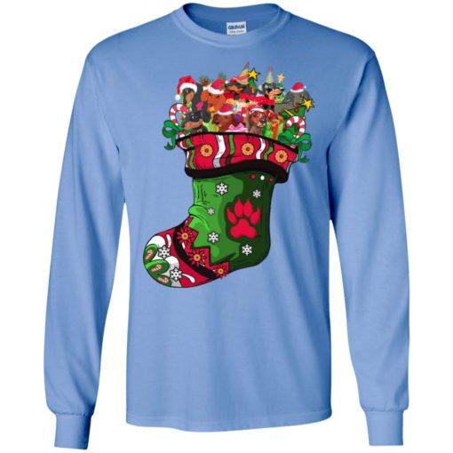 Full of dachshund sock present colorful art dog lover christmas long sleeve