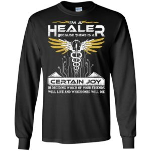 Nurse medical assistant im a healer because there is a certain long sleeve