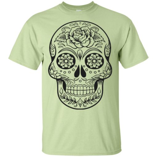 Mexican skull art 2 skeleton face day of the dead dia de los muertos t-shirt