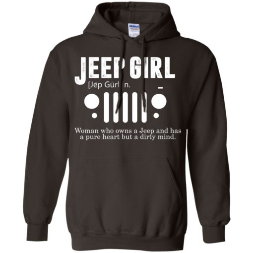 Vintage jeep pure heart but dirty mind jeep girl jeep wife hoodie