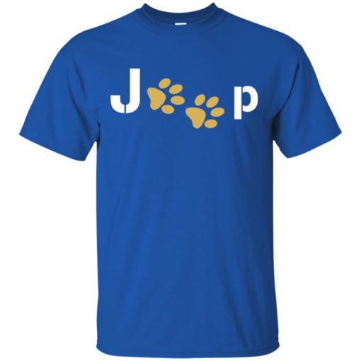 Jeep with dog paw t-shirt