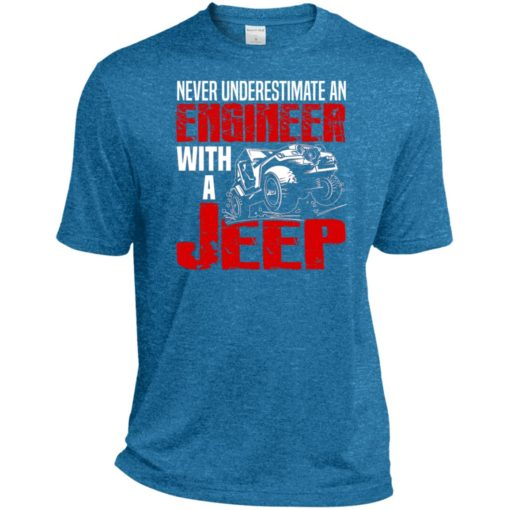 Never underestimate engineer with jeep sport t-shirt