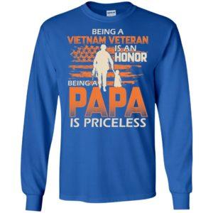 Vietnam veteran grandpa gift being vietnam veterans is honor being papa is priceless long sleeve