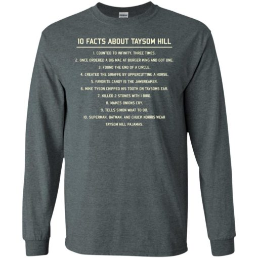 10 facts about taysom hill long sleeve