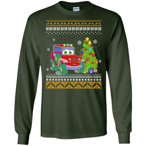 Merry jeepmas and happy new year jeep lover long sleeve